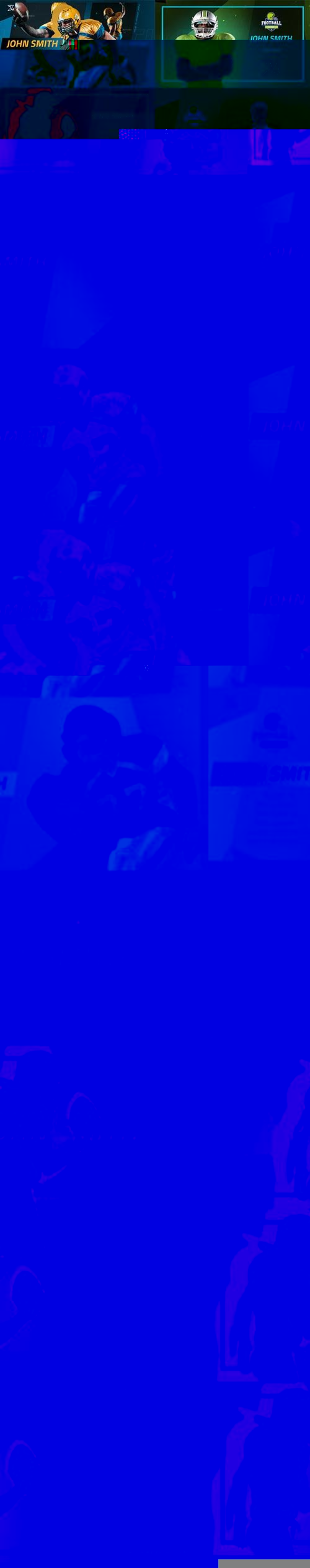 Videohive - Sport Player Profiles Pack - 25591541